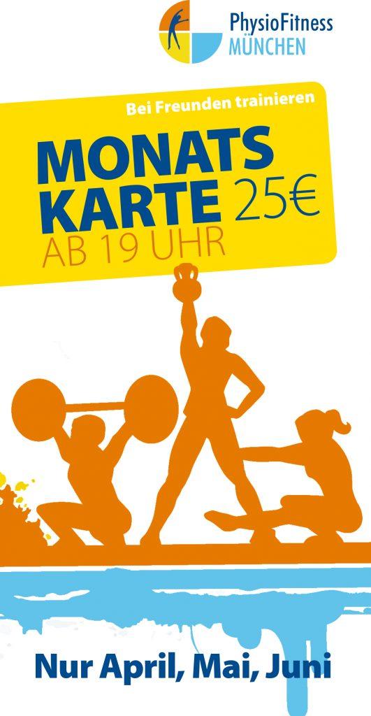 Aktionsflyer Monatskarte 25€